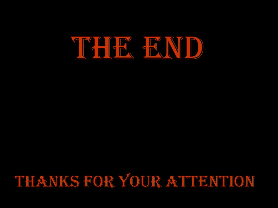 Thanks for your attention The End