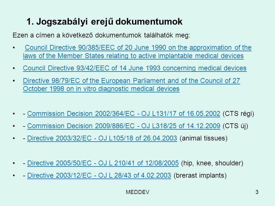 MEDDEV3 1.