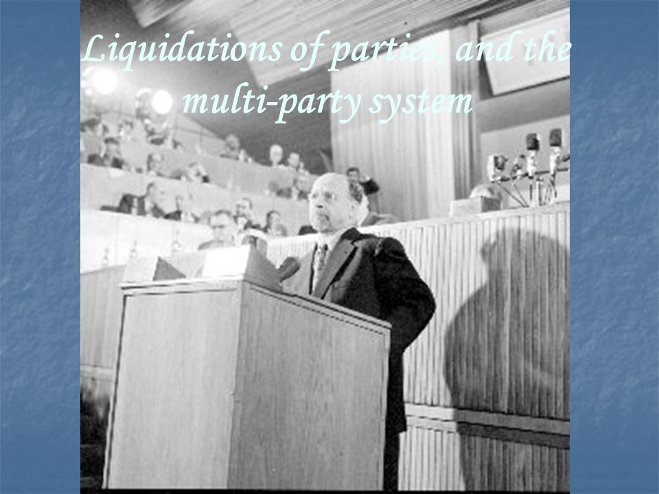 Liquidations of parties, and the multi-party system