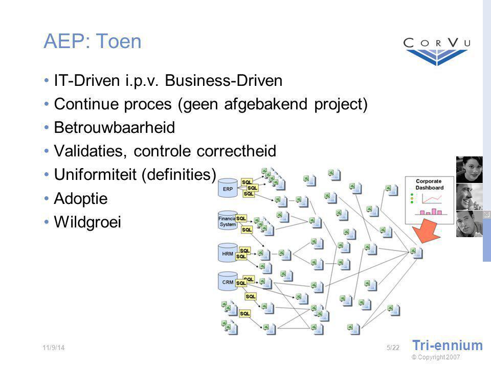 AEP: Toen IT-Driven i.p.v.