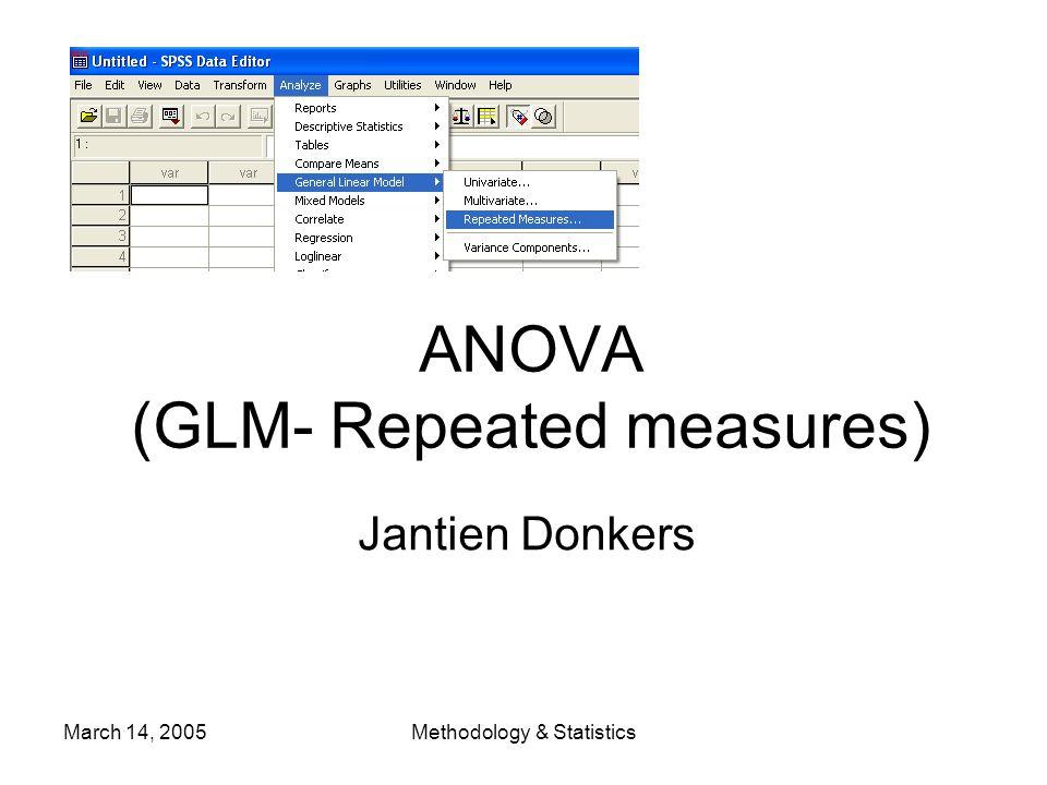 March 14, 2005Methodology & Statistics Data pre-processing (4) oWrite syntax script