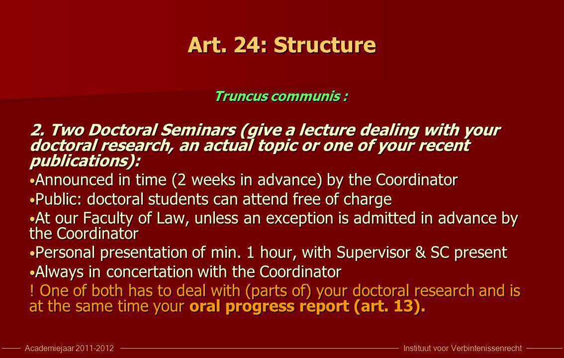 Instituut voor VerbintenissenrechtAcademiejaar 2011-2012 Art.