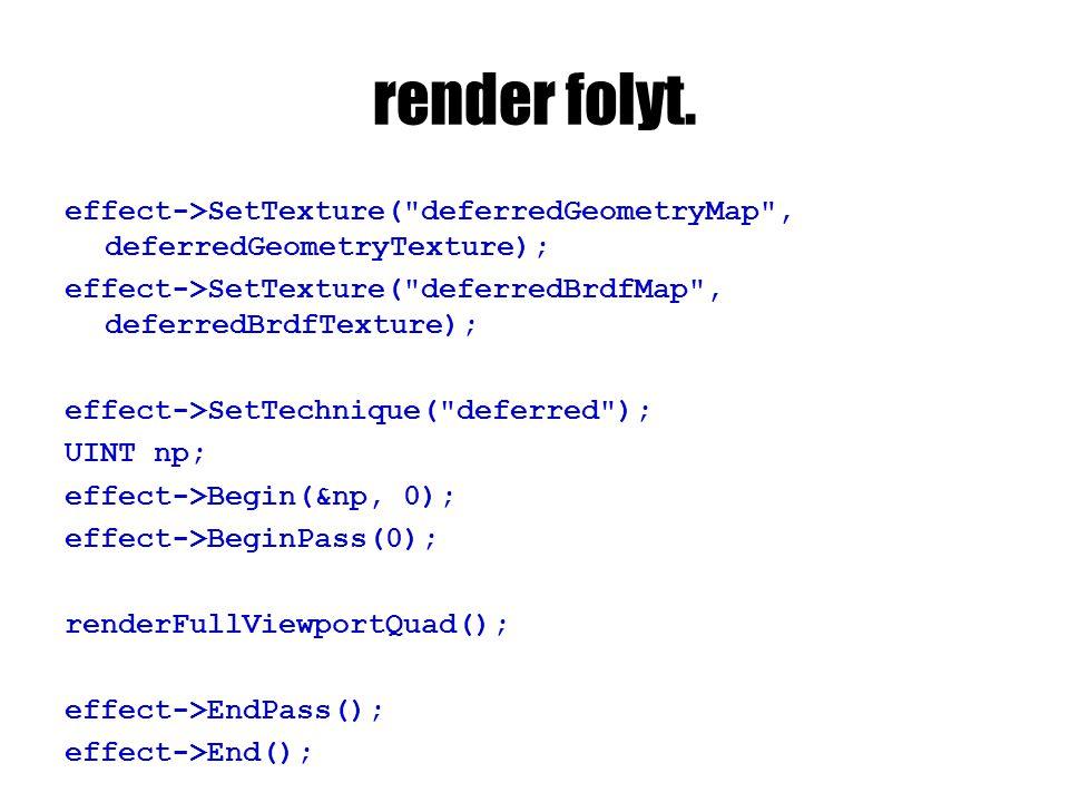 render folyt. effect->SetTexture(