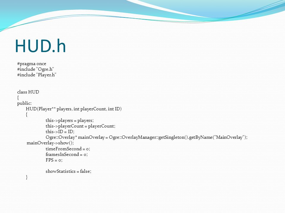 HUD.h #pragma once #include