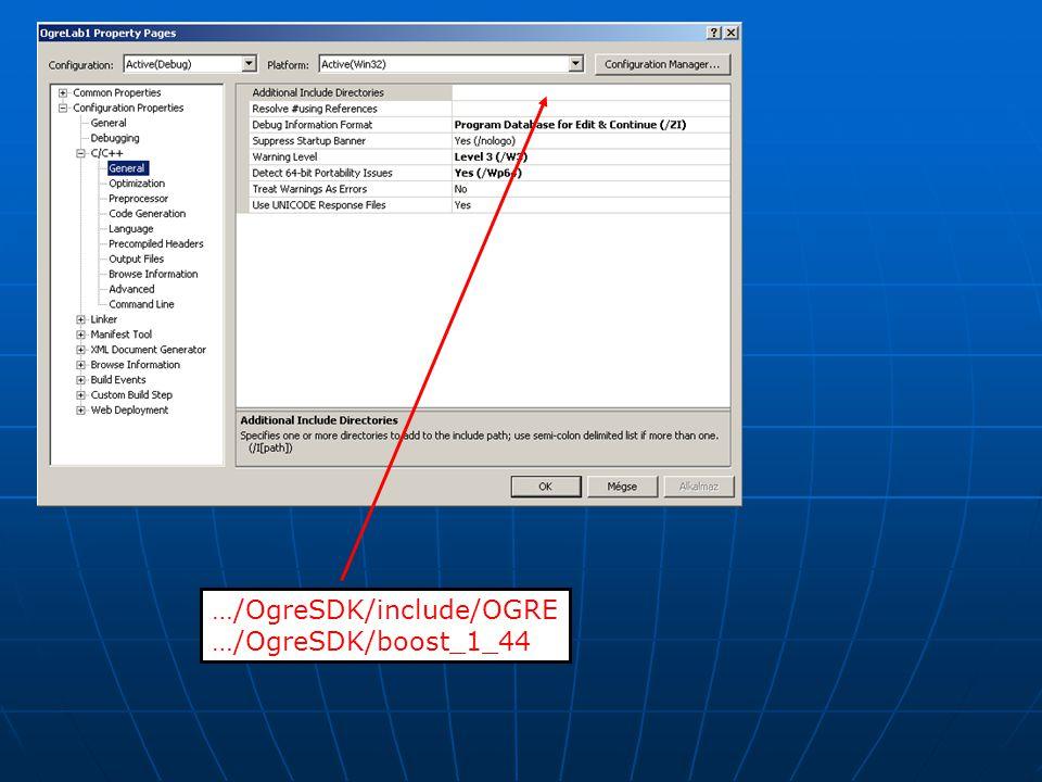 …/OgreSDK/include/OGRE …/OgreSDK/boost_1_44