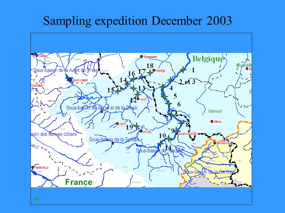 Location of the sampling sites