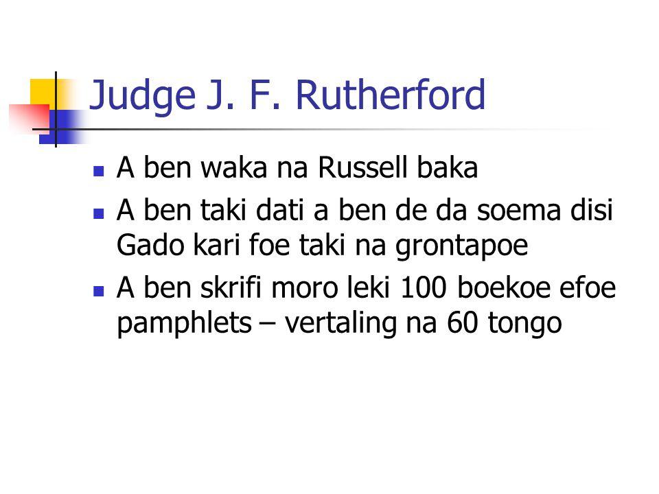 Judge J. F.