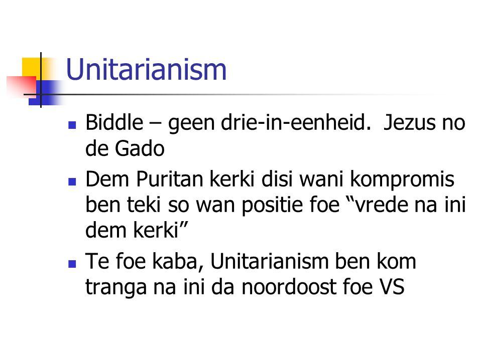 Unitarianism Biddle – geen drie-in-eenheid.