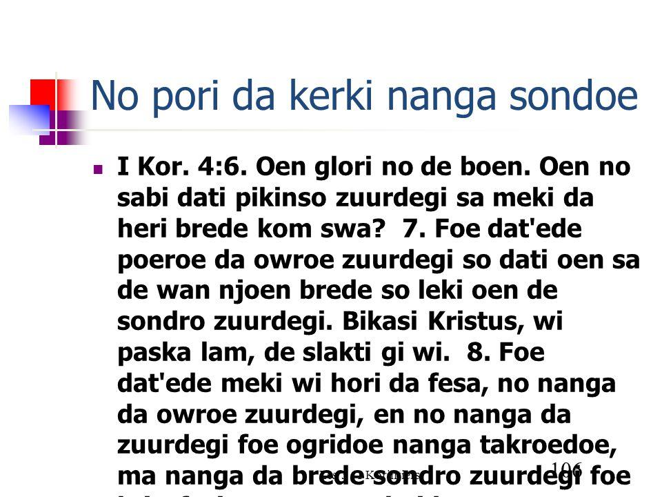 Les 3 - I Korintiers 106 No pori da kerki nanga sondoe I Kor.