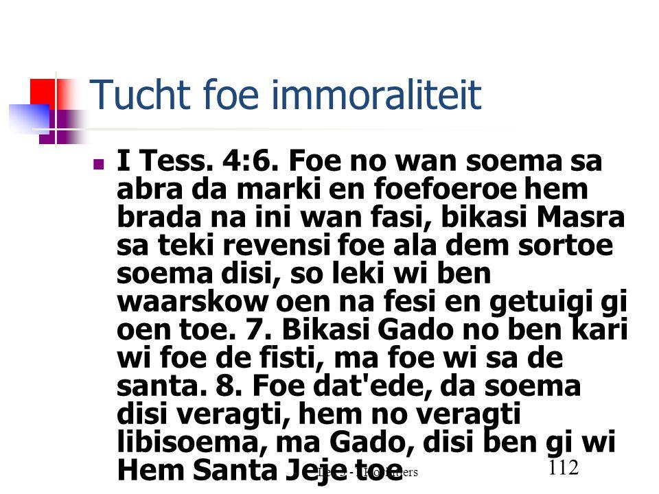 Les 3 - I Korintiers 112 Tucht foe immoraliteit I Tess.