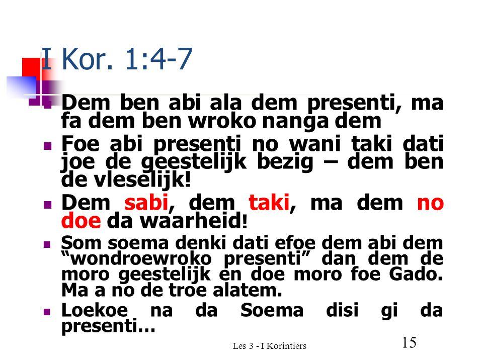 15 I Kor.