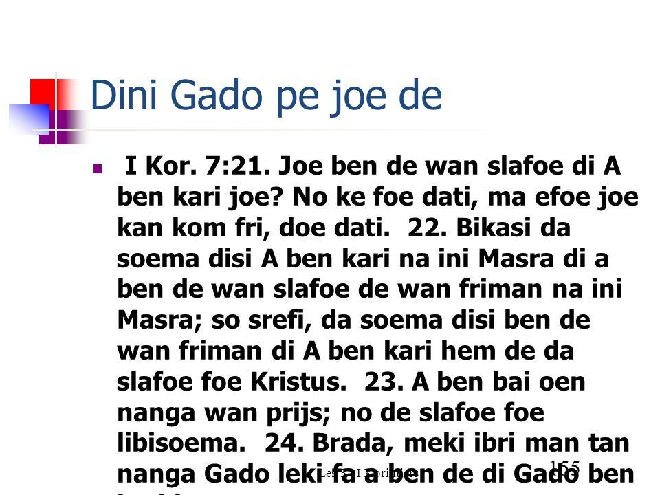 Les 3 - I Korintiers 155 Dini Gado pe joe de I Kor.