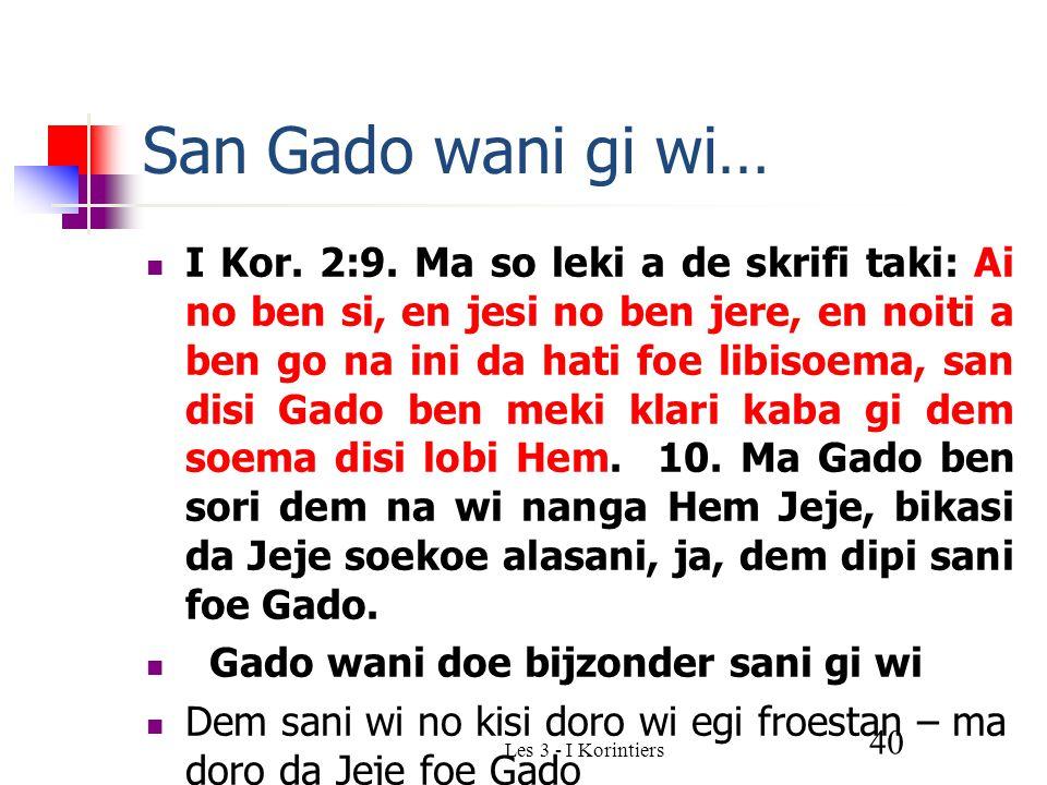 Les 3 - I Korintiers 40 San Gado wani gi wi… I Kor.