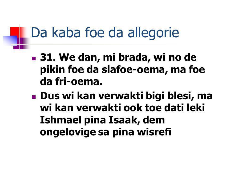 Da kaba foe da allegorie 31.