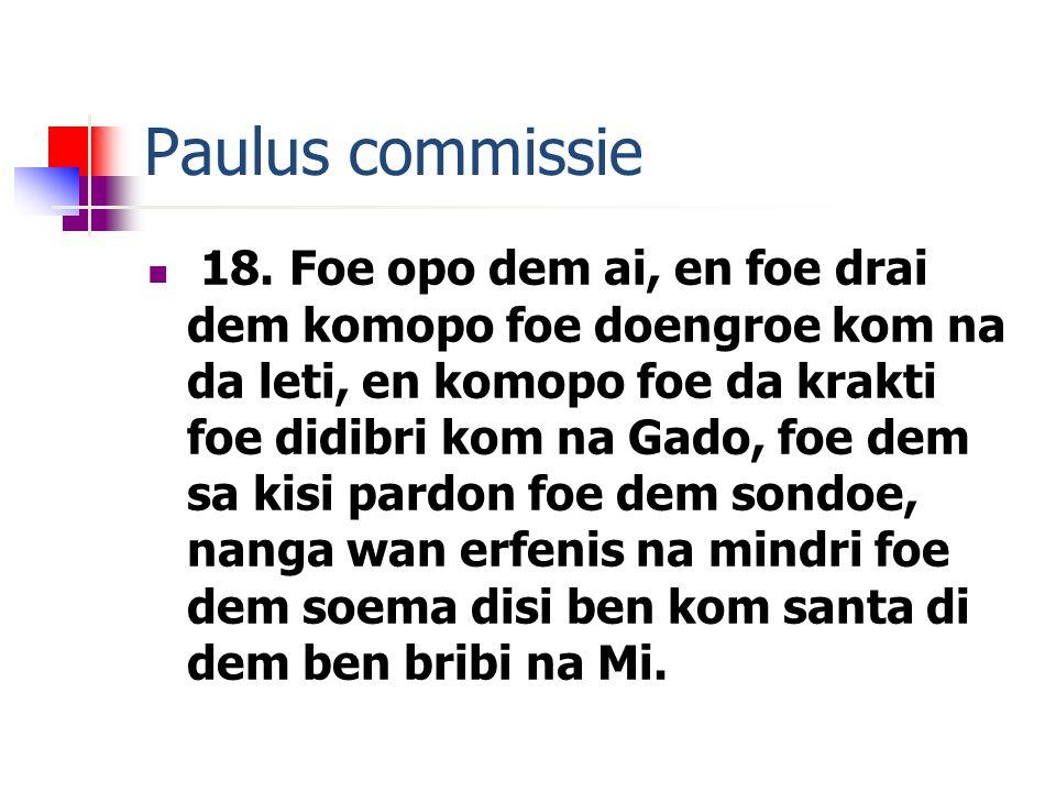 Paulus commissie 18.