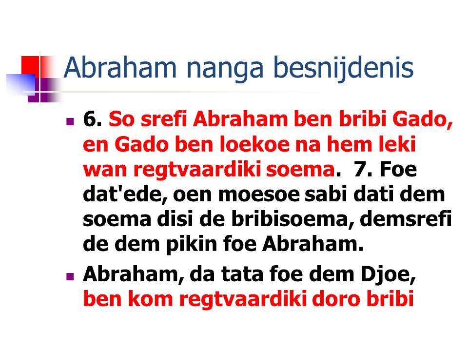 Abraham nanga besnijdenis 6.