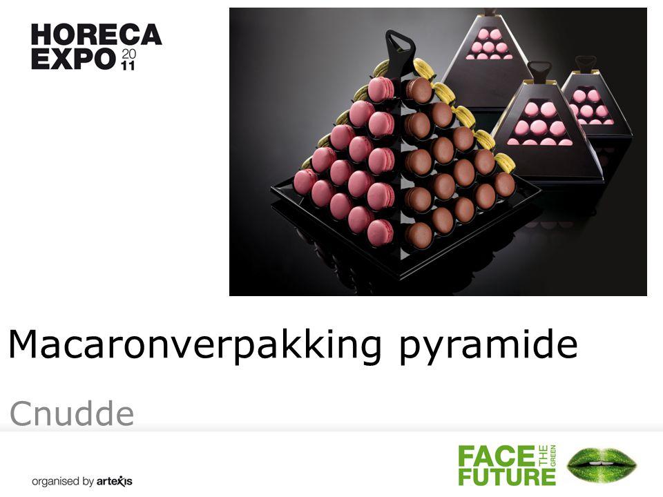 Macaronverpakking pyramide Cnudde