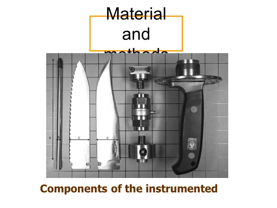 Material and methods Components of the instrumented