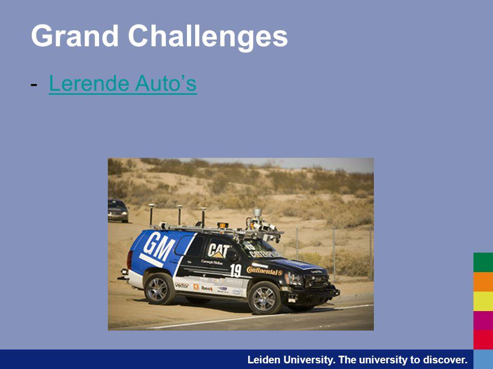 Grand Challenges -Lerende Auto'sLerende Auto's