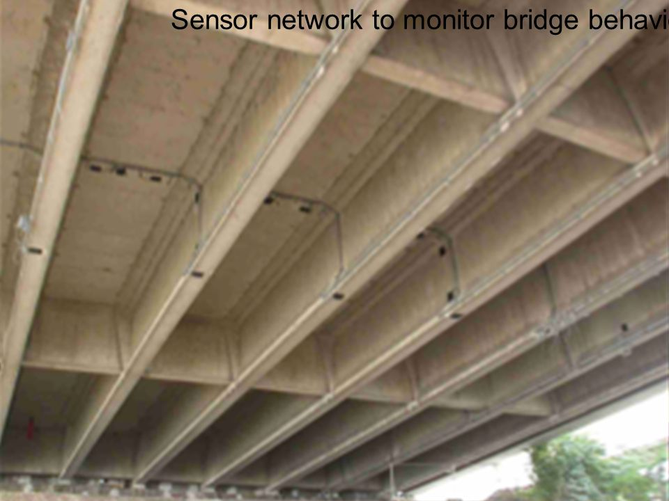 Sensor network to monitor bridge behavior