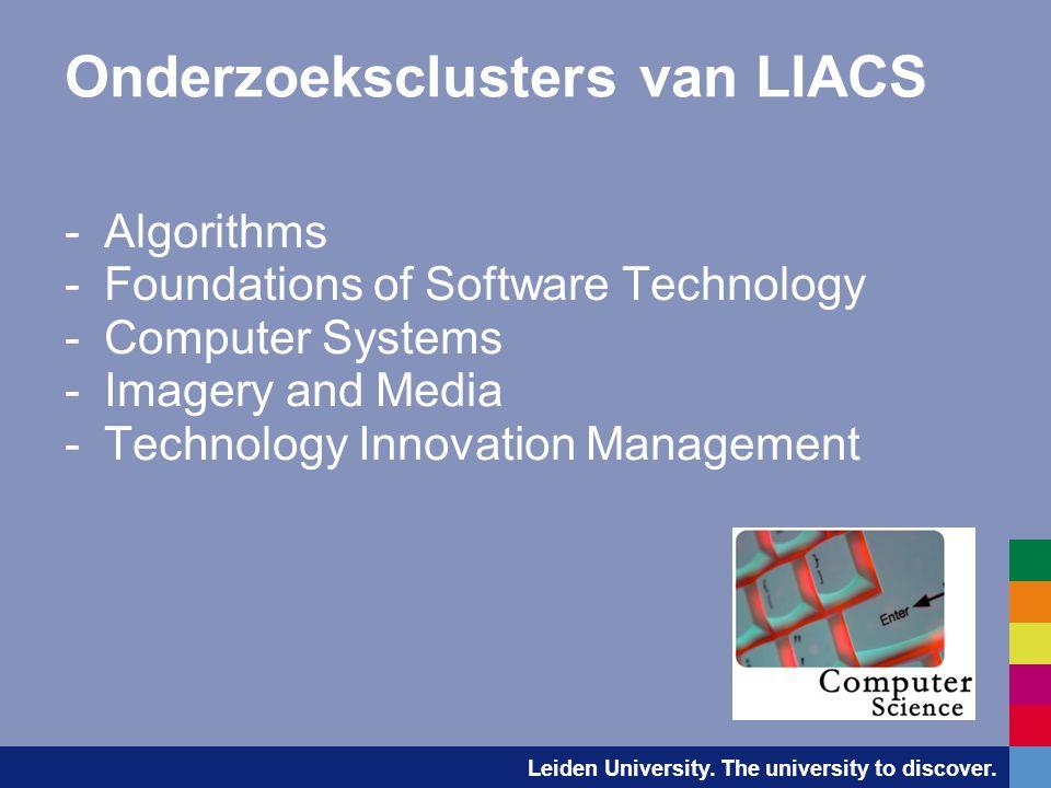 Leiden University.The university to discover. LIACS Research Clusters  Algorithms - prof.dr.