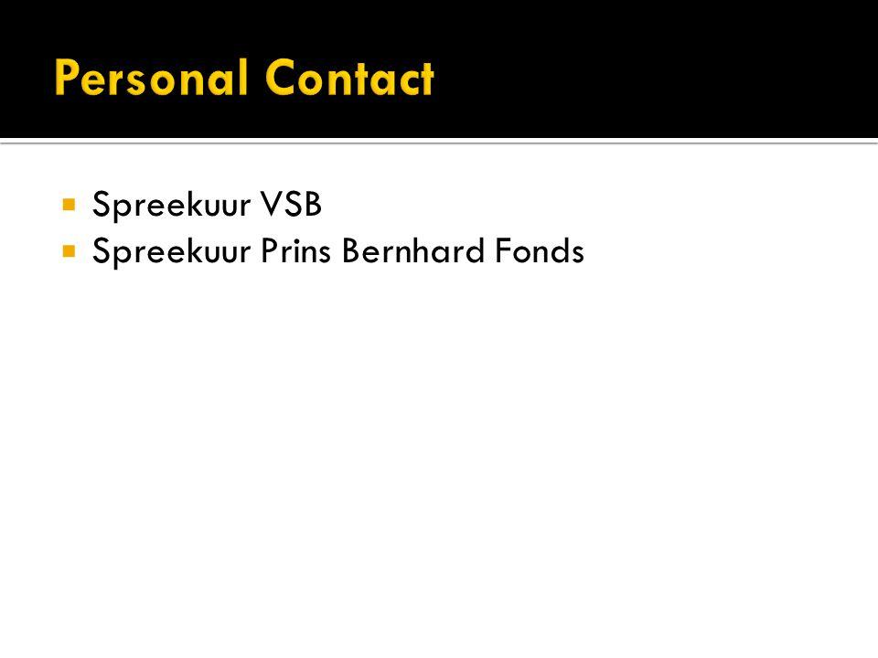  Spreekuur VSB  Spreekuur Prins Bernhard Fonds