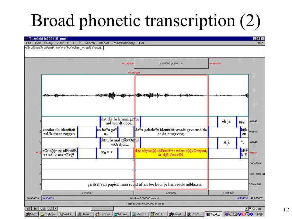 12 Broad phonetic transcription (2)