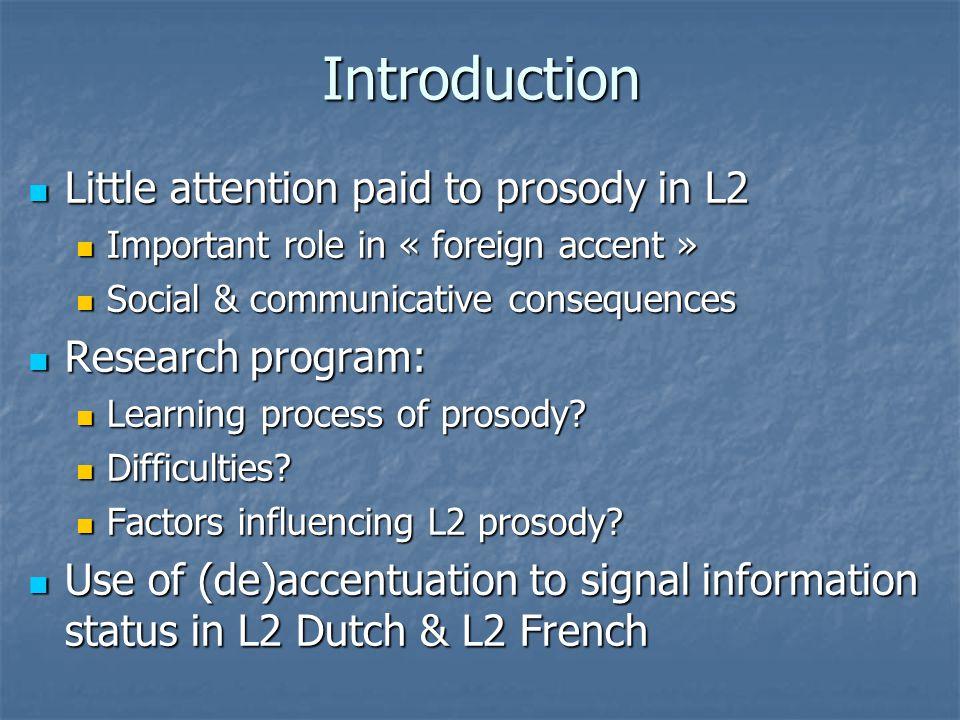 Accent patterns in L1/L2 Dutch Exp.Con.