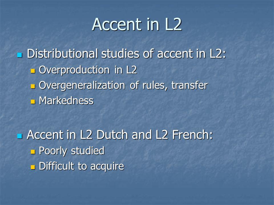 Deaccentuation in L1/L2 Dutch