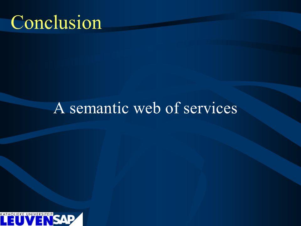 Conclusion A semantic web of services