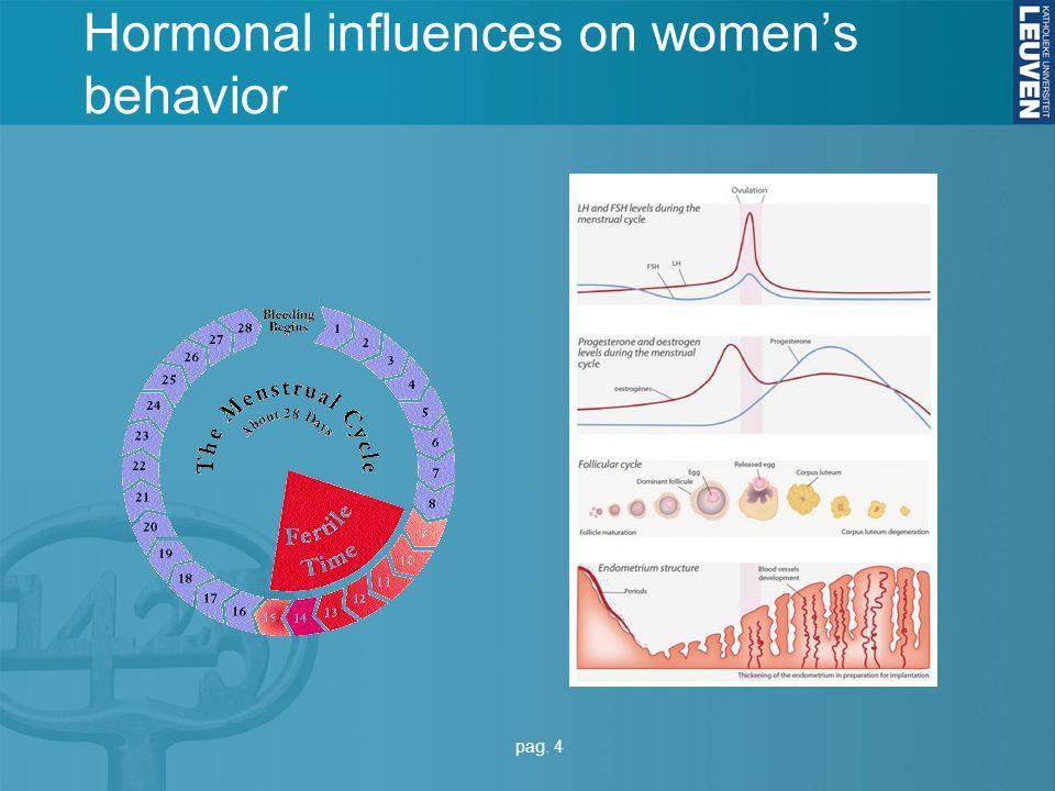 Hormonal influences on women's behavior pag. 4