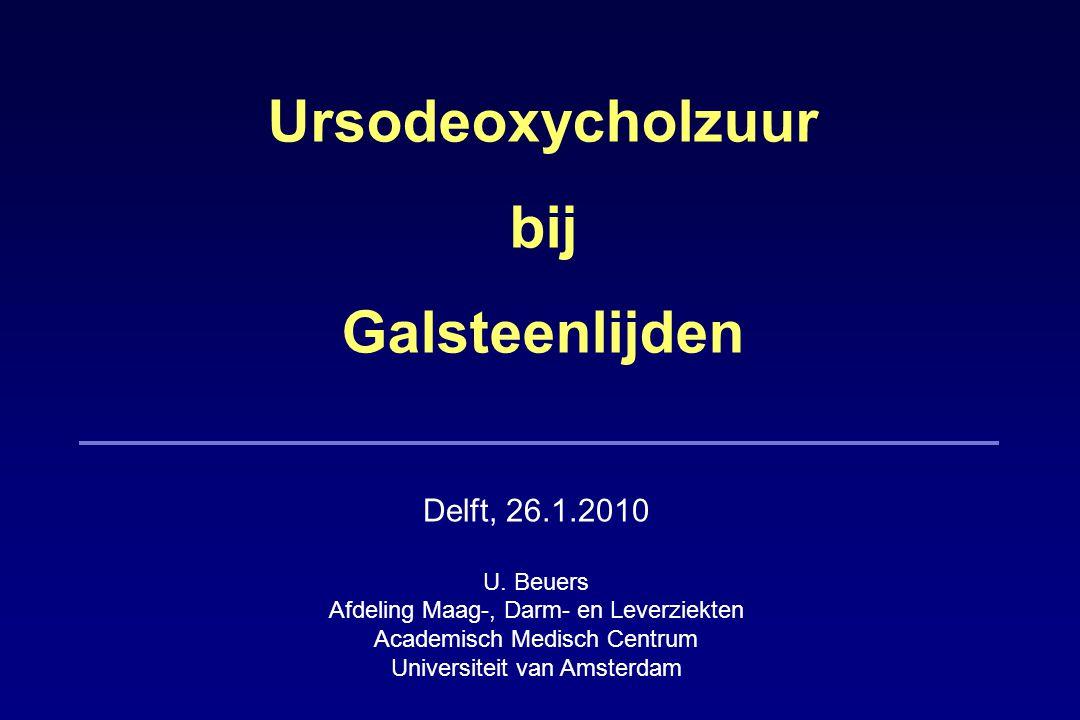 Ursodeoxycholzuur bij Galsteenlijden Delft, 26.1.2010 U.