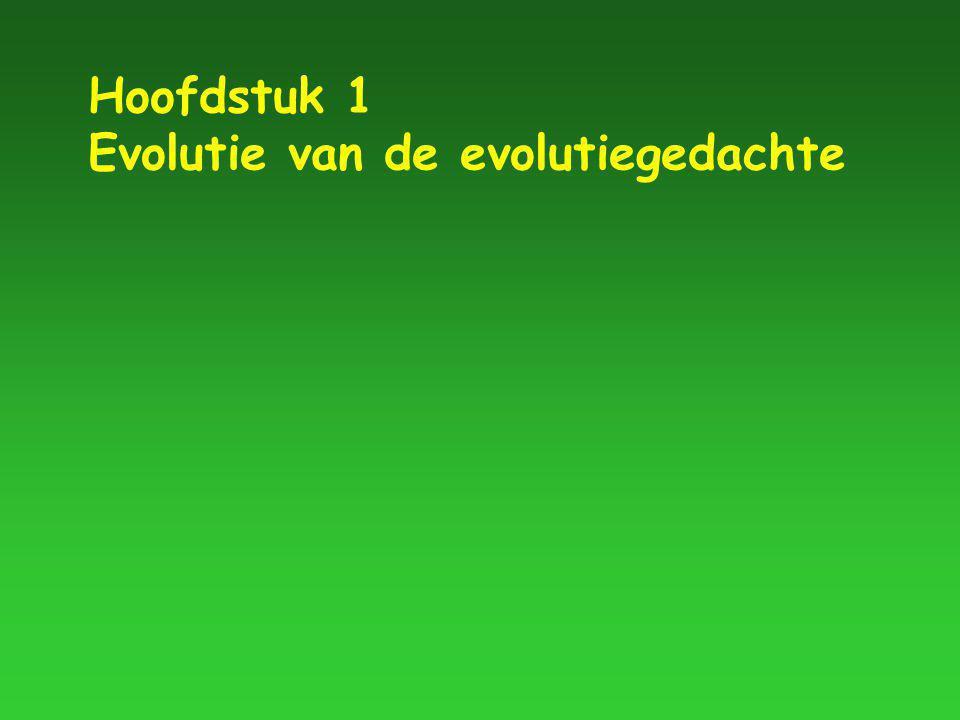 Hoofdstuk 1 Evolutie van de evolutiegedachte