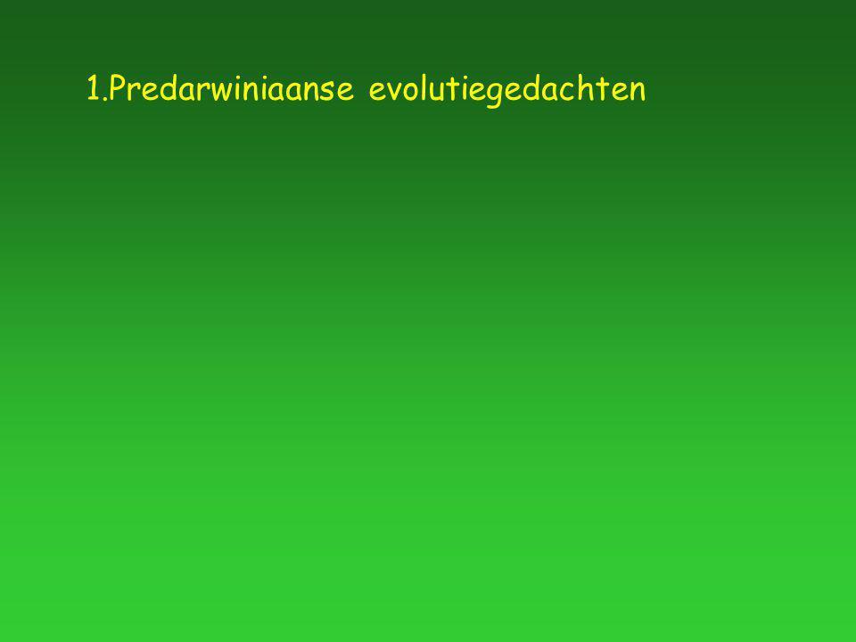 1.Predarwiniaanse evolutiegedachten
