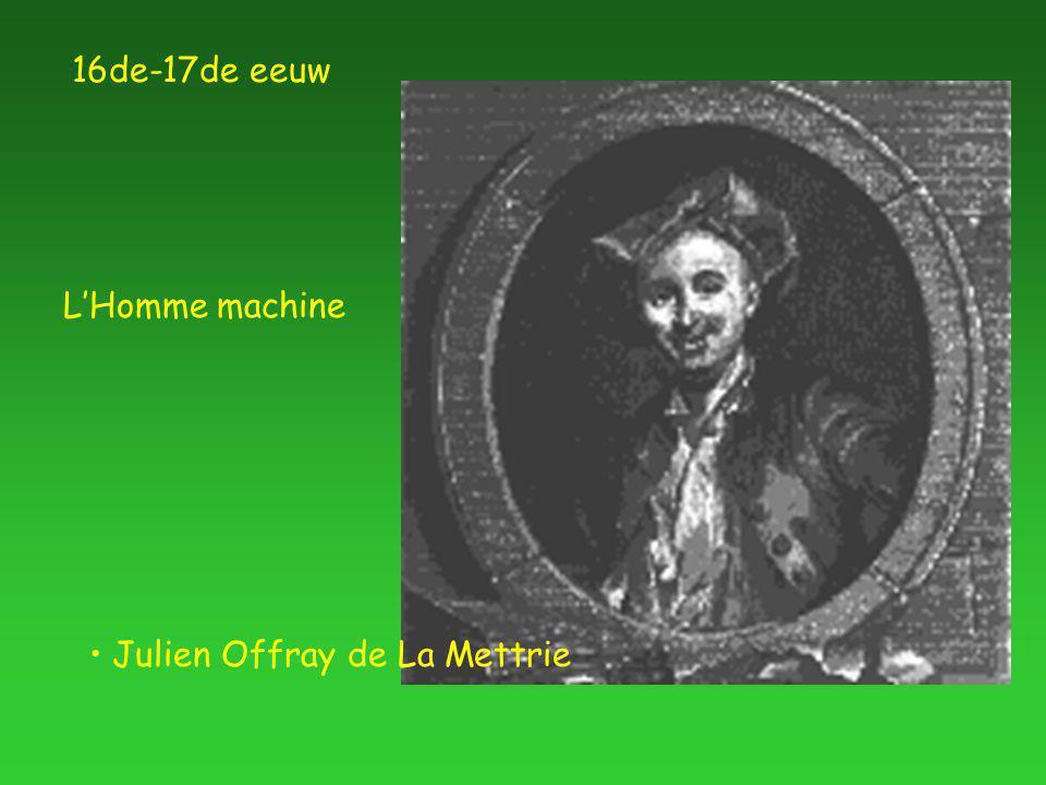 Julien Offray de La Mettrie L'Homme machine