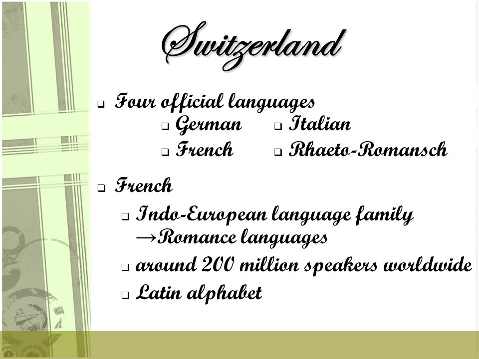 IIndo-European language family Romance languages tthe third most spoken language aabout 40 million speakers LLatin alphabet Spanish a b c ch d e f g h i j k l ll m n ñ o p q r s t u v w x y z a b c ch d e f g h i j k l ll m n ñ o p q r s t u v w x y z a b c ch d e f g h i j k l ll m n ñ o p q r s t u v w x y z