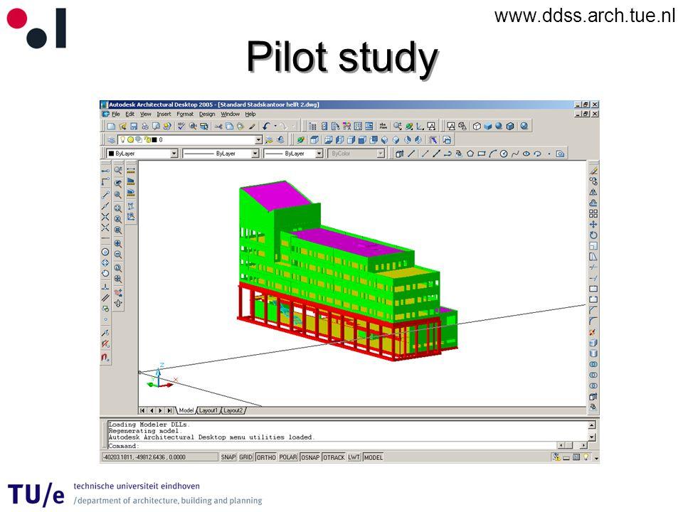 www.ddss.arch.tue.nl Pilot study