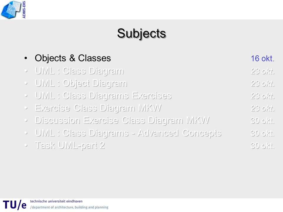 ADMS-BIS Subjects