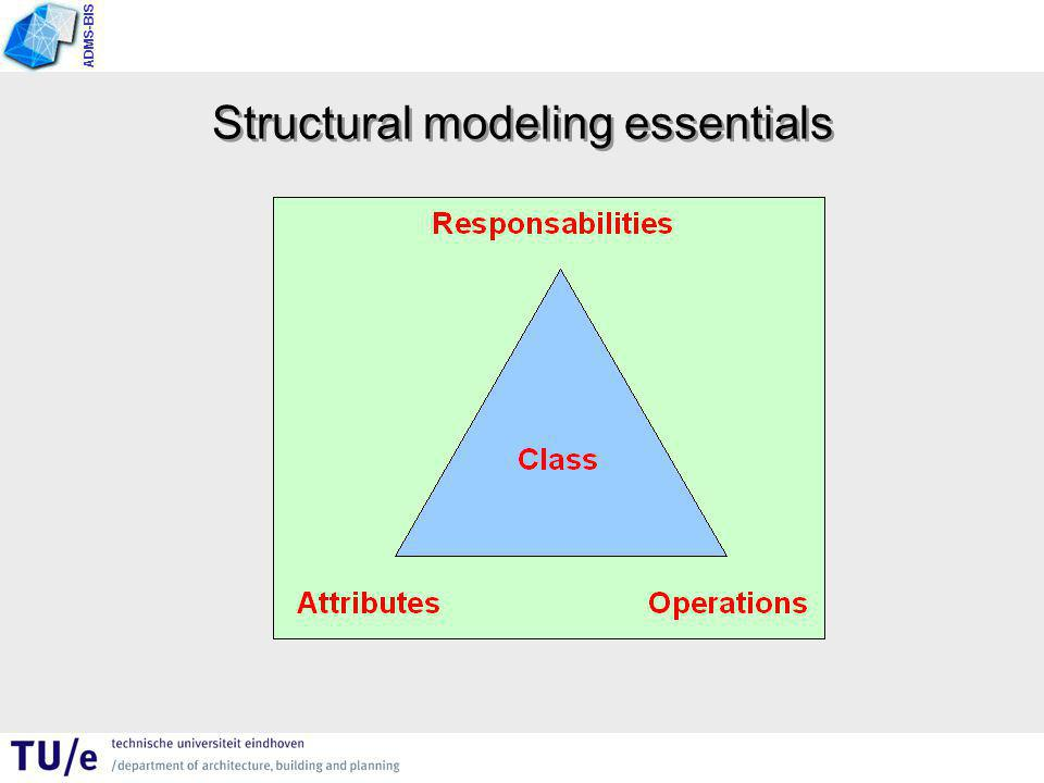 ADMS-BIS Structural modeling essentials
