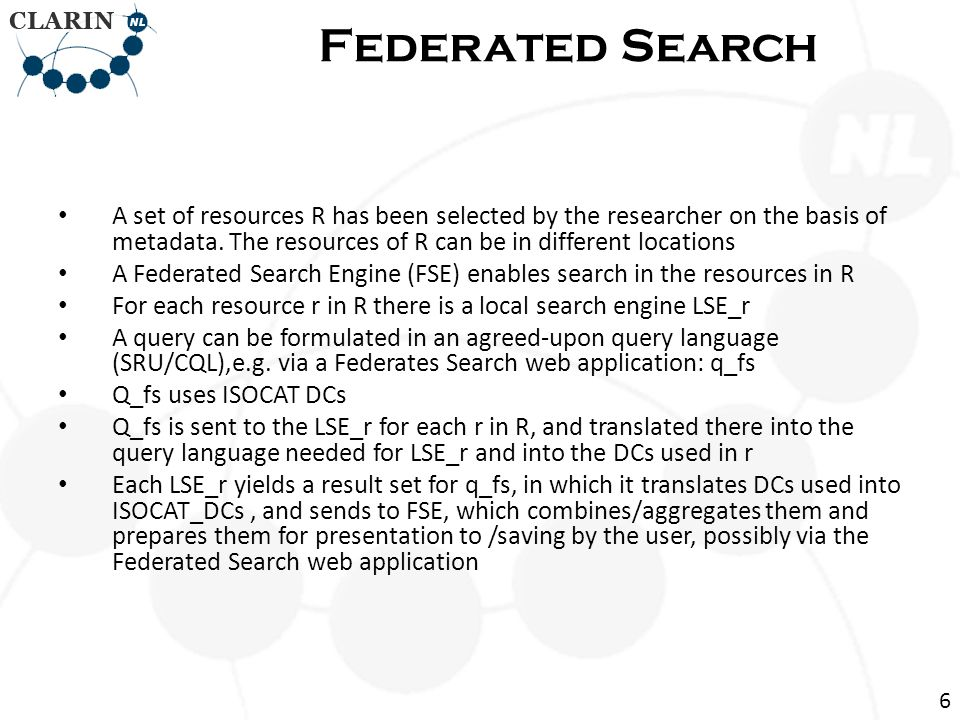 A set of resources R has been selected by the researcher on the basis of metadata.