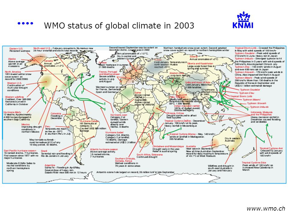 WMO status of global climate in 2003 www.wmo.ch