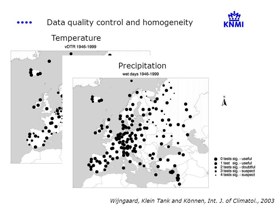 Temperature Precipitation Wijngaard, Klein Tank and Können, Int.
