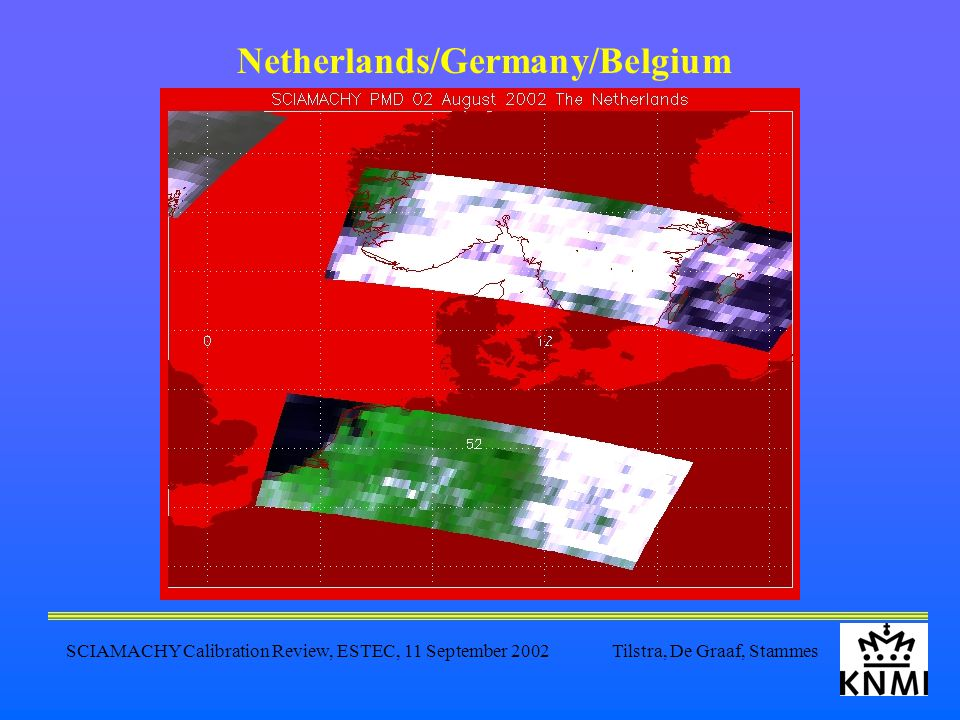 SCIAMACHY Calibration Review, ESTEC, 11 September 2002 Tilstra, De Graaf, Stammes Netherlands/Germany/Belgium