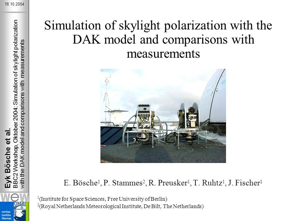 Eyk Bösche et al. BBC2 Workshop, Oktober 2004: Eyk Bösche et al.