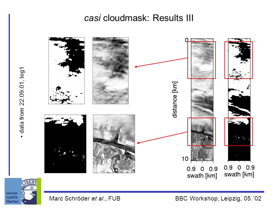 Marc Schröder et al., FUB BBC Workshop, Leipzig, 05.´02 casi cloudmask: Results III data from 22.09.01, leg1