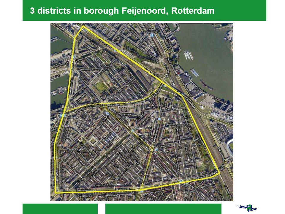 3 districts in borough Feijenoord, Rotterdam