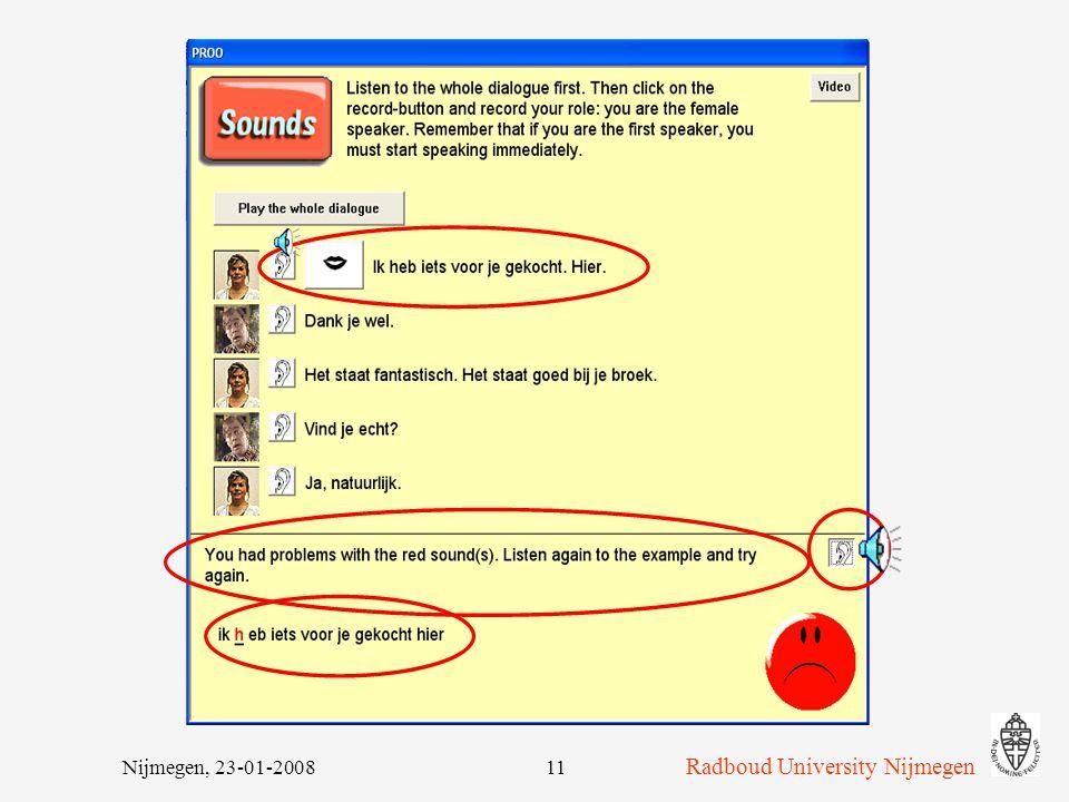 Radboud University Nijmegen Nijmegen, 23-01-200811