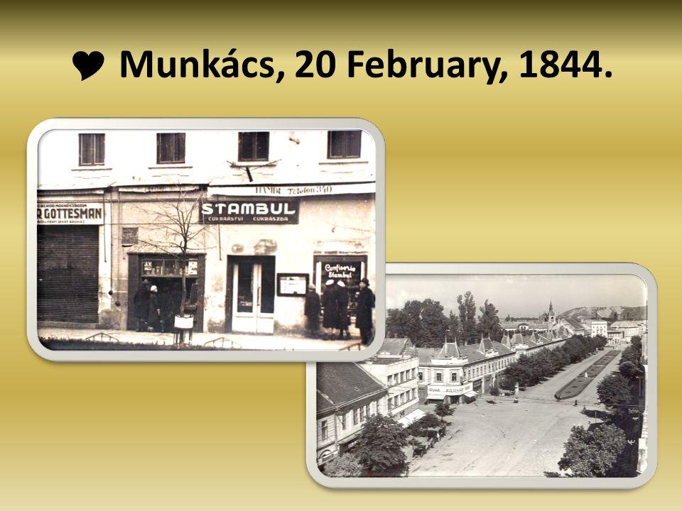  Munkács, 20 February, 1844.