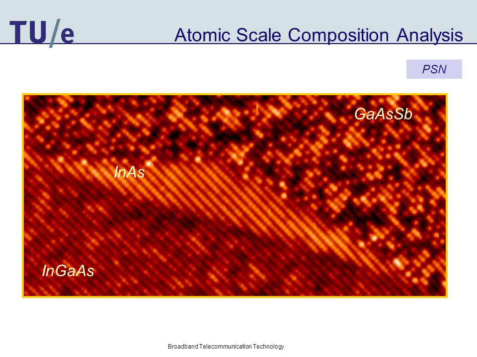 Atomic Scale Composition Analysis InGaAs GaAsSb InAs Broadband Telecommunication Technology PSN