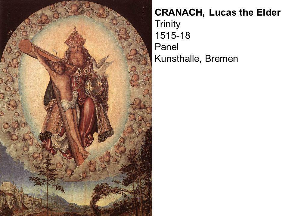 CRANACH, Lucas the Elder Trinity 1515-18 Panel Kunsthalle, Bremen